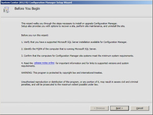 Install the SCCM R12